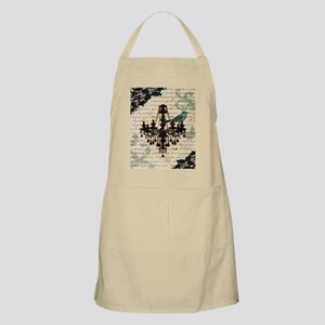 girly chandelier vintage paris  Apron